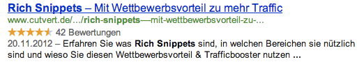 Rich Snippets in den Google SERP's